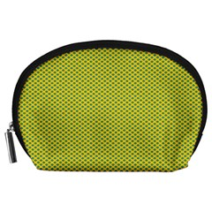 Polka Dot Green Yellow Accessory Pouches (large)  by Mariart
