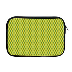 Polka Dot Green Yellow Apple Macbook Pro 17  Zipper Case by Mariart