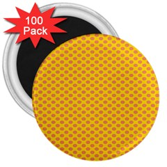 Polka Dot Orange Yellow 3  Magnets (100 Pack) by Mariart
