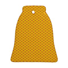 Polka Dot Orange Yellow Bell Ornament (two Sides) by Mariart