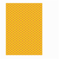 Polka Dot Orange Yellow Large Garden Flag (two Sides) by Mariart