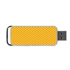 Polka Dot Orange Yellow Portable Usb Flash (two Sides) by Mariart