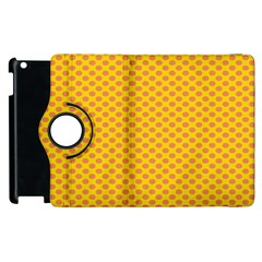 Polka Dot Orange Yellow Apple Ipad 2 Flip 360 Case by Mariart