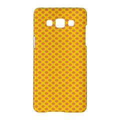 Polka Dot Orange Yellow Samsung Galaxy A5 Hardshell Case  by Mariart