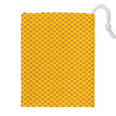 Polka Dot Orange Yellow Drawstring Pouches (xxl) by Mariart