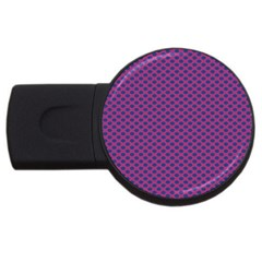 Polka Dot Purple Blue Usb Flash Drive Round (4 Gb) by Mariart