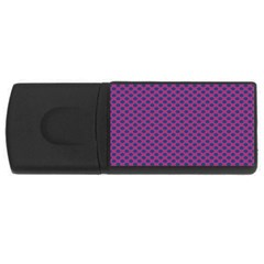 Polka Dot Purple Blue Usb Flash Drive Rectangular (4 Gb) by Mariart