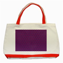 Polka Dot Purple Blue Classic Tote Bag (red) by Mariart