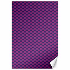 Polka Dot Purple Blue Canvas 12  X 18   by Mariart