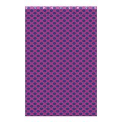 Polka Dot Purple Blue Shower Curtain 48  X 72  (small)  by Mariart
