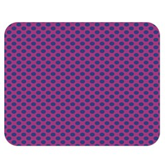 Polka Dot Purple Blue Double Sided Flano Blanket (medium)  by Mariart