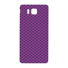 Polka Dot Purple Blue Samsung Galaxy Alpha Hardshell Back Case by Mariart
