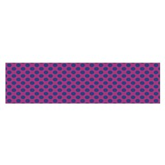 Polka Dot Purple Blue Satin Scarf (oblong) by Mariart