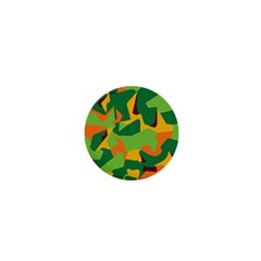 Initial Camouflage Green Orange Yellow 1  Mini Magnets by Mariart