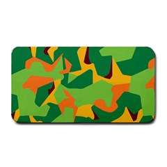 Initial Camouflage Green Orange Yellow Medium Bar Mats by Mariart
