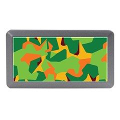 Initial Camouflage Green Orange Yellow Memory Card Reader (mini) by Mariart