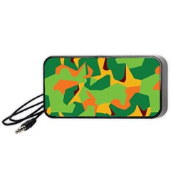 Initial Camouflage Green Orange Yellow Portable Speaker (black)