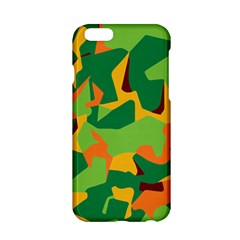 Initial Camouflage Green Orange Yellow Apple Iphone 6/6s Hardshell Case by Mariart