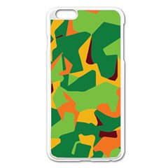 Initial Camouflage Green Orange Yellow Apple Iphone 6 Plus/6s Plus Enamel White Case by Mariart