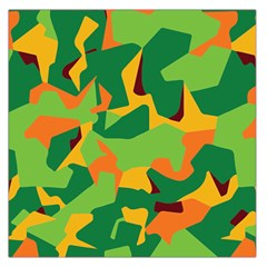 Initial Camouflage Green Orange Yellow Large Satin Scarf (square) by Mariart