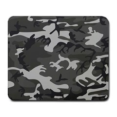Initial Camouflage Grey Large Mousepads by Mariart