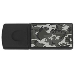 Initial Camouflage Grey Usb Flash Drive Rectangular (4 Gb) by Mariart