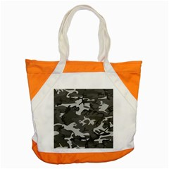 Initial Camouflage Grey Accent Tote Bag