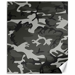 Initial Camouflage Grey Canvas 8  X 10  by Mariart