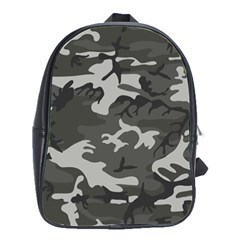 Initial Camouflage Grey School Bags(large)  by Mariart