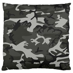 Initial Camouflage Grey Large Cushion Case (two Sides) by Mariart