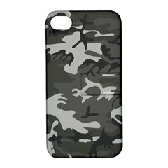 Initial Camouflage Grey Apple Iphone 4/4s Hardshell Case With Stand by Mariart