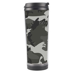 Initial Camouflage Grey Travel Tumbler by Mariart