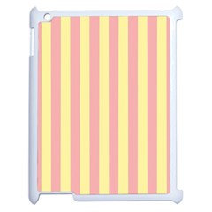 Pink Yellow Stripes Line Apple Ipad 2 Case (white) by Mariart