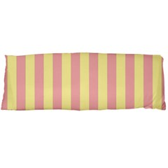 Pink Yellow Stripes Line Body Pillow Case Dakimakura (two Sides) by Mariart