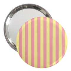 Pink Yellow Stripes Line 3  Handbag Mirrors by Mariart