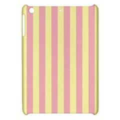Pink Yellow Stripes Line Apple Ipad Mini Hardshell Case by Mariart