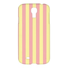 Pink Yellow Stripes Line Samsung Galaxy S4 I9500/i9505 Hardshell Case by Mariart