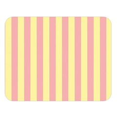 Pink Yellow Stripes Line Double Sided Flano Blanket (large)  by Mariart