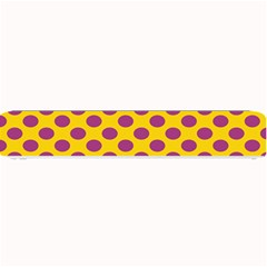 Polka Dot Purple Yellow Small Bar Mats by Mariart