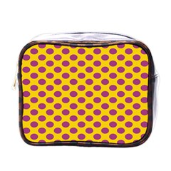 Polka Dot Purple Yellow Mini Toiletries Bags
