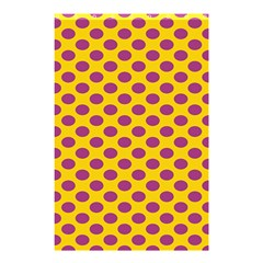Polka Dot Purple Yellow Shower Curtain 48  X 72  (small)  by Mariart