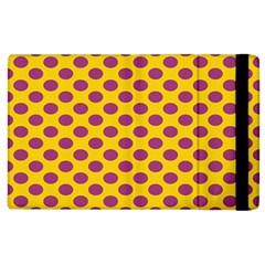 Polka Dot Purple Yellow Apple Ipad 2 Flip Case by Mariart