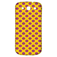 Polka Dot Purple Yellow Samsung Galaxy S3 S Iii Classic Hardshell Back Case by Mariart