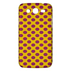 Polka Dot Purple Yellow Samsung Galaxy Mega 5 8 I9152 Hardshell Case  by Mariart