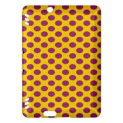 Polka Dot Purple Yellow Kindle Fire Hdx Hardshell Case by Mariart