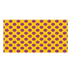Polka Dot Purple Yellow Satin Shawl by Mariart