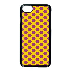 Polka Dot Purple Yellow Apple Iphone 7 Seamless Case (black) by Mariart