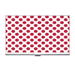 Polka Dot Red White Business Card Holders by Mariart