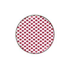 Polka Dot Red White Hat Clip Ball Marker (4 Pack) by Mariart