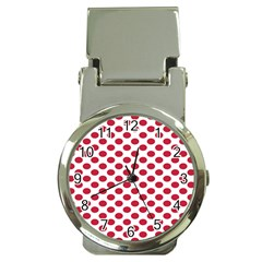 Polka Dot Red White Money Clip Watches by Mariart